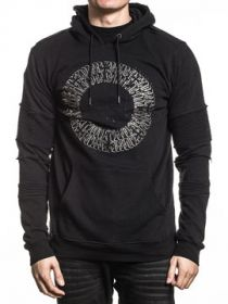 Affliction Live Fast Black Label Rome Cross Emblems  Mens Long Sleeve Pull Over Hoodie Sweatshirt in Black - SIZES S-4X