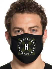 Howitzer By Affliction Patriot MFG USA Armed Forces Military Biker Moto Mens Womens Unisex Face Mask in Black - Washable Reusable