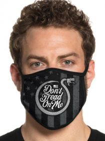 Howitzer By Affliction Dont Tread On Me Snake American Flag Patriot Marines Military USA Mens Womens Unisex Face Mask in Black - Washable Reusable