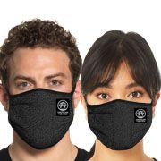 American Fighter Grand Bay Crackle Texture UFC MMA Active Sports Athletic Fashion Mens Womens Unisex Face Mask in Black - Washable Reusable