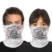 Howitzer By Affliction Kryptek Dont Tread On Me Snake Marines Military USA Mens Womens Unisex Loop Neck Gaiter Scarf Face Mask in White - Wash Reuse