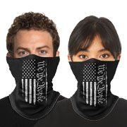 Howitzer By Affliction We The People American Flag Patriot Military Mens Womens Unisex Loop Neck Gaiter Scarf Face Mask in Black - Washable Reusable