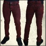 Kill City Stretch Denim Junkie Fit Mens Jeans in Red and Black Trash Wash - ONLY 28 LEFT RARE