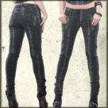 Lip Service Python Addiction Snake Skin Womens Stretch Skinny Jeans in Black and Grey