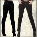 Lip Service Addiction Copper D-Ring Copper Ankle Buttons Steampunk Rocker Womens Stretch Skinny Jeans in Black